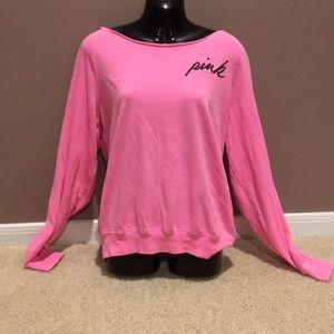 PINK Victoria's Secret off the shoulder neon pink